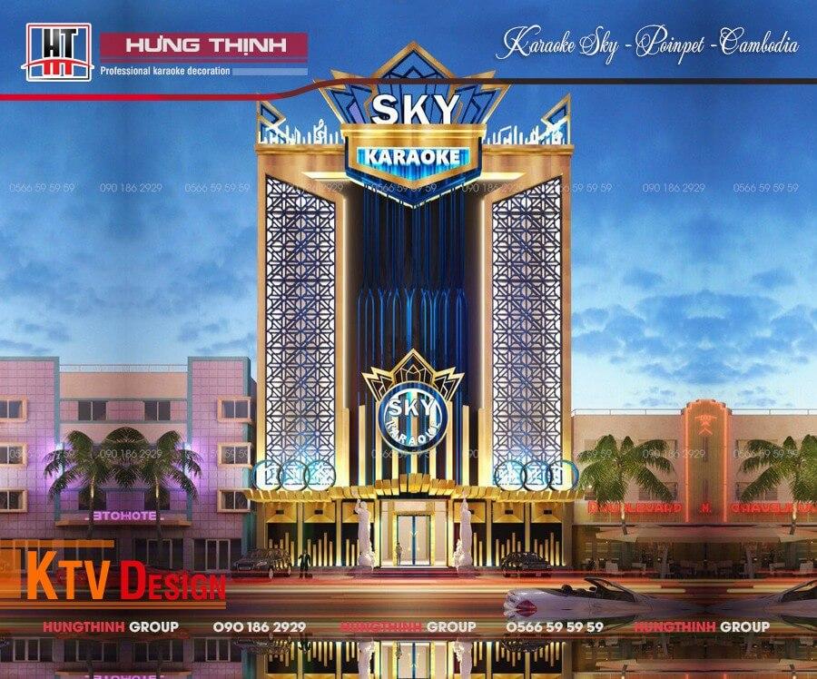 Mặt tiền quán karaoke Sky