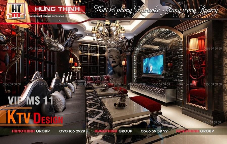 phòng karaoke sang trọng MS-11