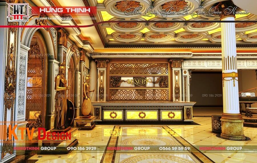 Sảnh quầy bar karaoke Luxury
