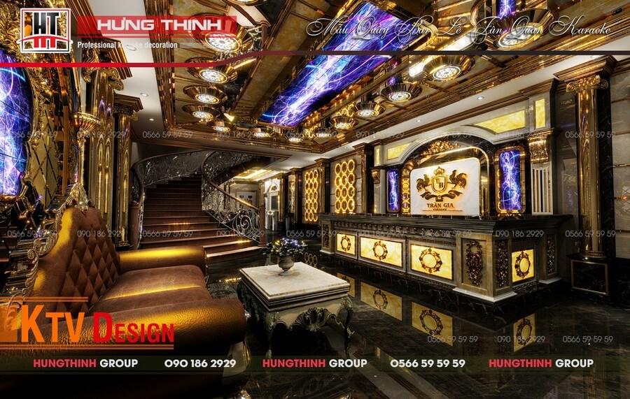 Sảnh quầy bar karaoke Trần Gia