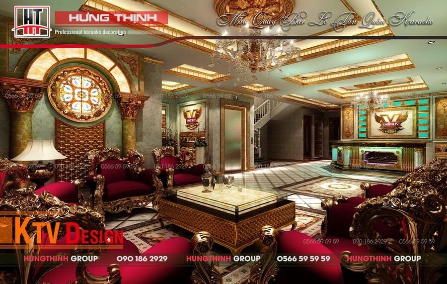 Sảnh quầy bar karaoke Venus