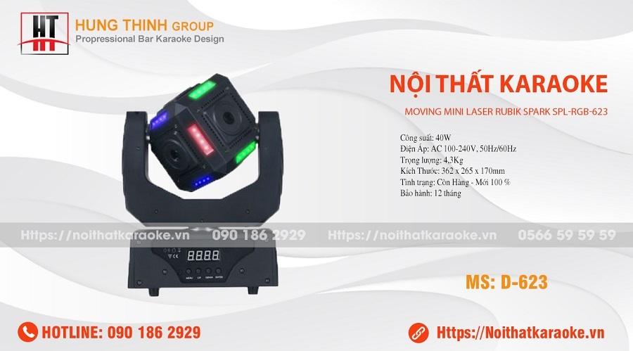 Đèn moving laze mivi RGB 623
