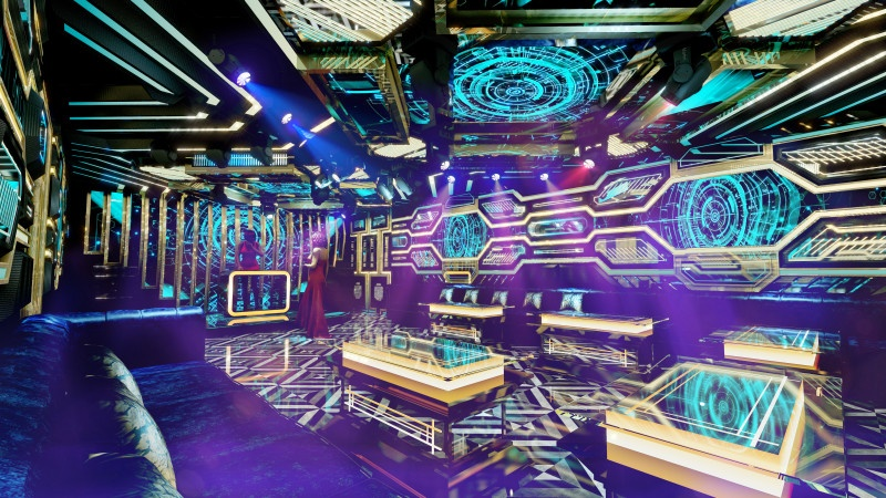 Phòng karaoke hiện đại ấn tượng